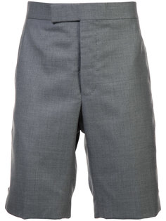 Classic Backstrap Short In Medium Grey Super 120s Twill Thom Browne