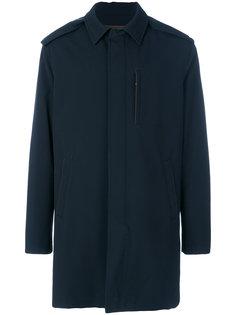 пальто с потайной планкой Ermenegildo Zegna