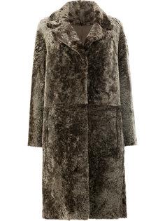 двустороннее меховое пальто  Drome