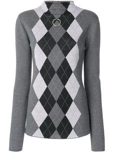 свитер-водолазка с ромбами  Stella McCartney