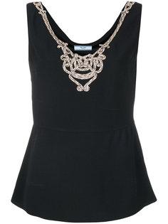 декорированная блузка Prada