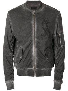 куртка-бомбер  с потертой отделкой Rta