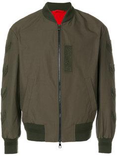куртка-бомбер с узором в елочку Neil Barrett