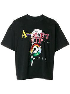 футболка с вышивкой Doublet