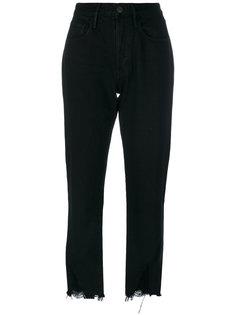 укороченные брюки с необработанным низом 3X1