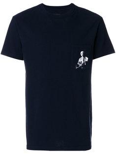 футболка с принтом скелета Rta
