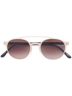 солнцезащитные очки с круглой оправой Giorgio Armani