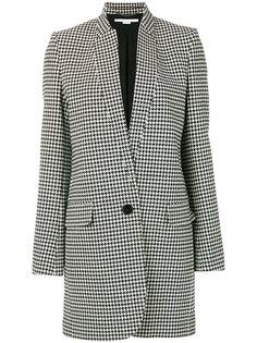 однобортное пальто в ломаную клетку Stella McCartney