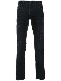 джинсы с рваной отделкой Dolce & Gabbana