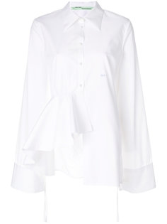 рубашка с декоративной оборкой Off-White