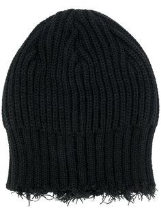 шапка с необработанными краями Yohji Yamamoto
