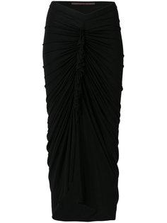 юбка со складками  Rick Owens Lilies
