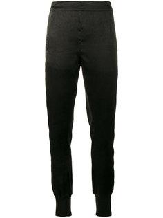 фактурные брюки с заниженным шаговым швом  Ann Demeulemeester