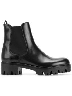 байкерские ботинки Chelsea Prada