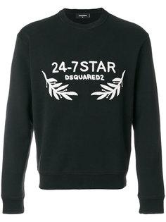 толстовка с вышивкой 24-7 Star Dsquared2