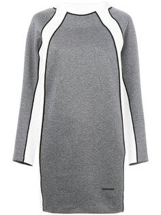 короткое платье с контрастными полосками Dsquared2