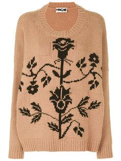 свитер с рисунком Hache