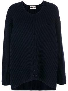 свитер в рубчик с U-образным вырезом  Hache