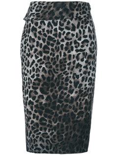 юбка с запахом и леопардовым принтом  Tom Ford