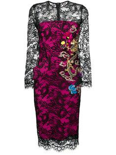 платье-миди с кружевом Ermanno Scervino