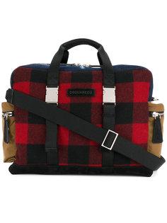 спортивная сумка в шотландскую клетку Dsquared2