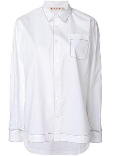 рубашка с контрастными строчками Marni