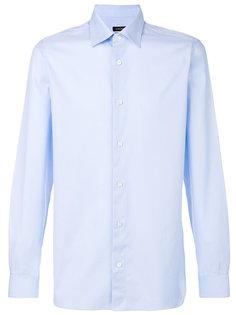 однотонная рубашка Z Zegna