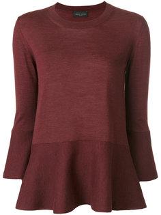расклешенная трикотажная блузка  Roberto Collina