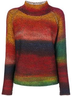 свитер с высоким воротником в полоску Etro
