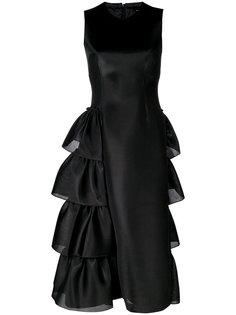 платье миди с оборкой сбоку  Simone Rocha