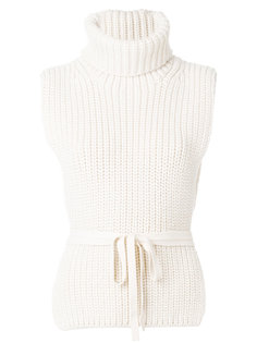 свитер с высоким воротником и поясом Philosophy Di Lorenzo Serafini