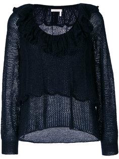свитер с рюшами See By Chloé