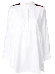 приталенная рубашка с эполетами Semicouture