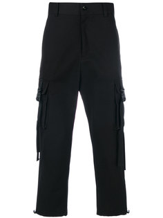 брюки с накладными карманами с ремешками D.Gnak