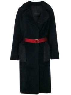 свободное пальто с поясом  Blancha