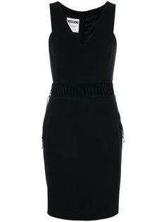 платье со шнуровкой на талии  Moschino