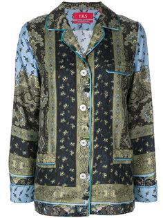 пижамная рубашка с цветочным принтом  F.R.S For Restless Sleepers