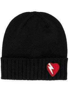 шапка с заплаткой в виде сердца Saint Laurent