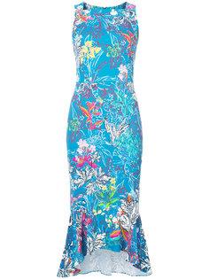 платье с цветочным принтом без рукавов Peter Pilotto