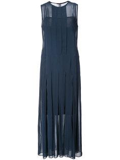 прозрачное длинное платье шифт Akris Punto
