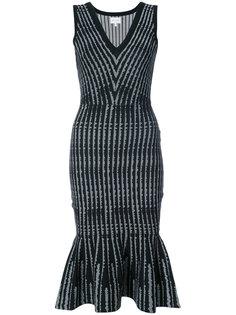 платье миди с баской Milly