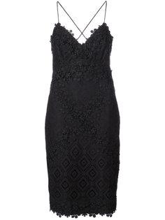 платье мини с вышитыми крючком Nicole Miller