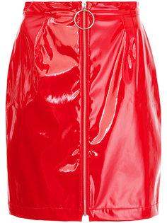 мини-юбка с эффектом лакированной кожи G.V.G.V.