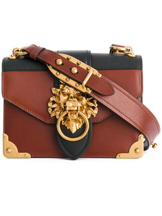 сумка Cahier с украшением в виде льва Prada
