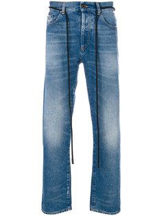 джинсы скинни с диагональными полосками Off-White