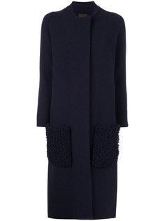 пальто с декором на карманах Oyuna
