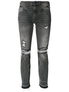 состаренные джинсы скинни  R13
