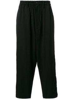 широкие укороченные брюки   Yohji Yamamoto