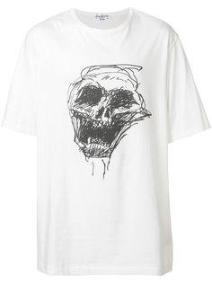 футболка с принтом черепа Yohji Yamamoto