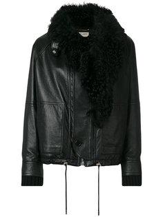 куртка с меховой отделкой  Saint Laurent